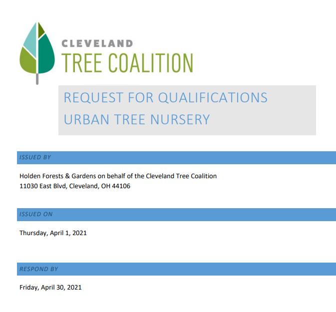 RFQ Urban Tree Nursery document cover